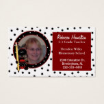 Ladybug Teacher's Photo Business Card