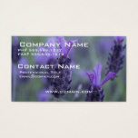 Lavender Flower Photo Business Card