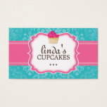 Lovely Damask Cupcake Business Cards