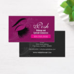 Makeup Artist and Eyelash Extensions Business Card