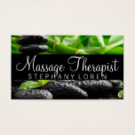 Massage Therapist, Clinic, Wellness Business Card