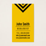 Modern Black & Yellow Geologist Business Card