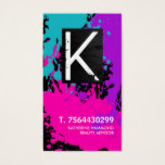 Monogram Nail Technician Business Card