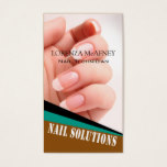 Nail Solutions - Manicure Pedicure Spa Technician Business Card