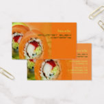 Nobu Gourmet Sushi catering business Business Card