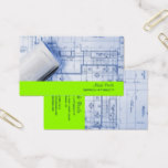 PixDezines Trendy Architect/DIY color/neon green Business Card