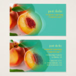 Prefectly fresh peaches business card