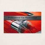 Professional Automotive Restoration Business Cards