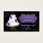 purple Wedding Cake makers business Cards