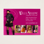 """Glitz Glam 2"" - Classy Chic Funky Fashion Stylist Business Card"