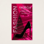 """Stiletto Style"" - Fashion Stylist, Designer Business Card"