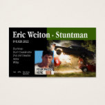 """Stunt Actor"" Stunt Coordinator, Film, TV Business Card"