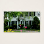 Real Estate White Black House Business Card