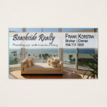 Realtors, Real Estate, Home Stagers, Beachfront Business Card