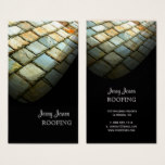 Roofing, Slate Tiles Roof, Photo Business Card