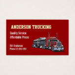 Semi Fuel Tanker Truck Business Card
