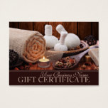 Spa Gift Certificate Template, Massage Gift Cards