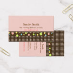 Stylish childcare Colorful Polka Dots Business Card