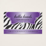 Stylish Zebra Print Business Cards