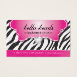 Stylish Zebra Print Jeweller Business Cards