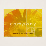 Sunflower Golden Ratio Business Card
