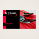 Table Setting Catering Food Business Card