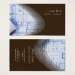 Trendy Architect business cards, dark chocolate Business Card