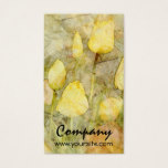 Tulips Yellow Orange Business Card