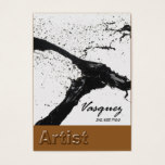 Vasquez - Bold Artist Painter Illustrator (mocha) Business Card