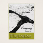 Vasquez - Bold Illustrator Artist Painter (celery) Business Card
