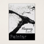 Vasquez - Bold Painter Artist Illustrator (black) Business Card