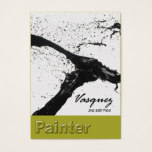 Vasquez - Bold Painter Artist Illustrator (celery) Business Card