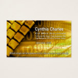 Web Design-1 Business Card template (gold)