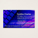 Web Design-1 Business Card template (royal blue)