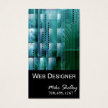 Web Design-2 Business Card template (teal)