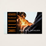 Welder Construction Business Card