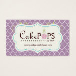 Whimsical Cake Pop Business Card