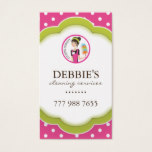Whimsical Housekeeper Business Card